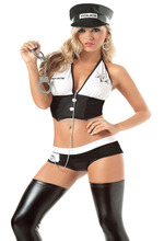 2015 best quality police dance halloween cosplay costumes