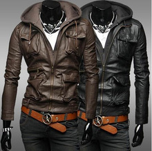 China Wholesale Websites Men's First Genuine Leather Hooded Jackets