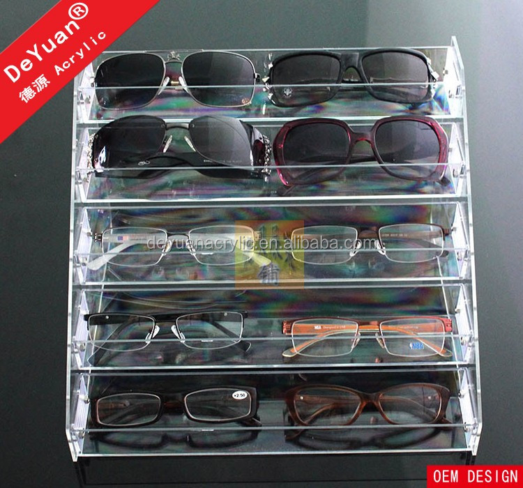 Wall Mounted Sunglass Display Rack 5 Tier