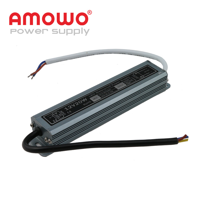 20W 1.67a IP67 power supply 12v led driver power supply 12v 2a