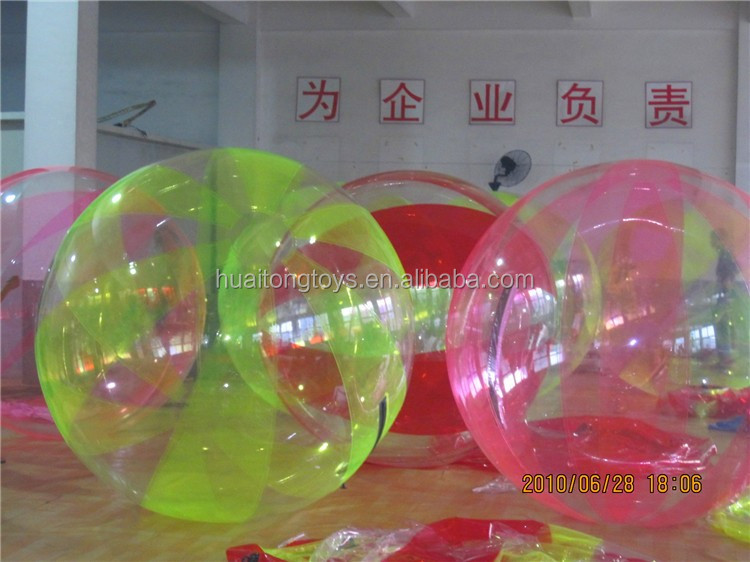 Colorful inflatable human balloon water walking ball inflatable ball suit for kids and adults