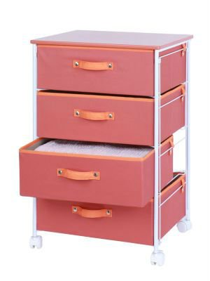 Rolling storage cart - Canvas 4 Drawers
