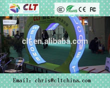 China factory full color curtain/curve/flexible foldable led video display screen