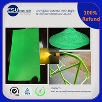 Electrostatic spray glow in the dark paint powder coating