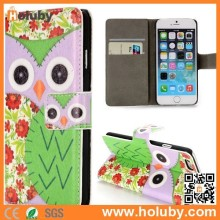 Wallet Style Magnetic Flip Stand PC +PU Leather Owl Case for iPhone 6 4.7 inch