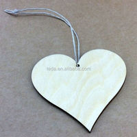 Wooden Craft Shapes Hanging Wood Tags Hearts