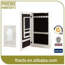 Wall Mount mirrored jewelry cabinet with mirror