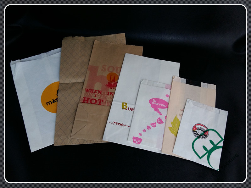 Greaseproof hamburger bag paper burger bag
