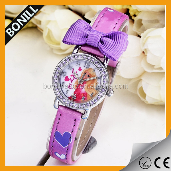 wholesale cheap colorful cartoon with Hello Kitty face cute kids wrist watch