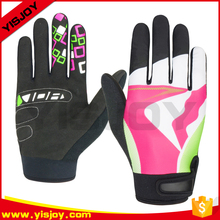 Professional skidproof full finger sports road bike gloves/cycling gloves