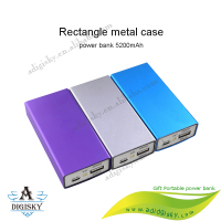 Fashion White USB Portable 18650 Power Banks 5200mAh External Battery Bank Pack Charge Mobile Phone