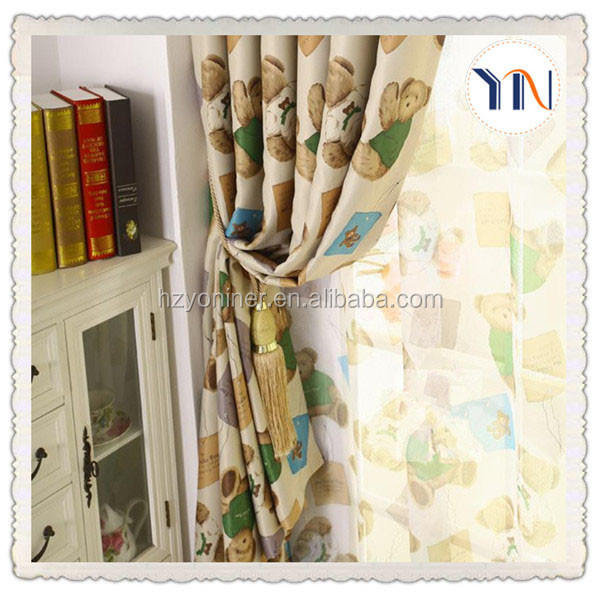 customized window curtain fabric cartoon pattern blackout fabric for kids bedroom