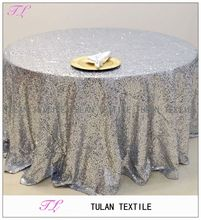 fancy wedding embroidery full sequin taffeta table cloth