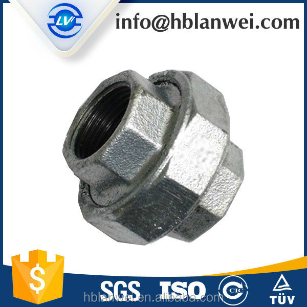 light duty 330 flat seat union malleable iron pipe fittings