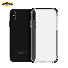 Crystal Clear Shock Absorption Technology Bumper Transparent TPU+Acrylic Cover Case for iPhone X