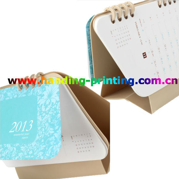 cheap and high paper table calendar design 2013