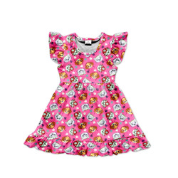 wholesale hot sale high quality fashion girl boutique dress baby pink dogs dress patterns baby girl summer party dress