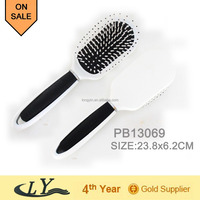 plastic vent hair brush with head massager