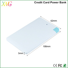 Ultra-thin polymer credit card rohs power bank Portable Mobile Phone Charger