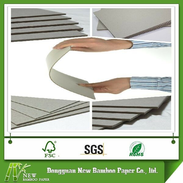 High quality duplex grey recycled stocklot paper laminated board