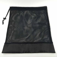 Wholesale Custom Black Drawstring Mesh Bags