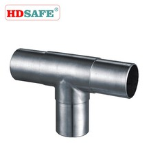 SUS304 stainless steel T type handrail railing design banister accessories tube connector
