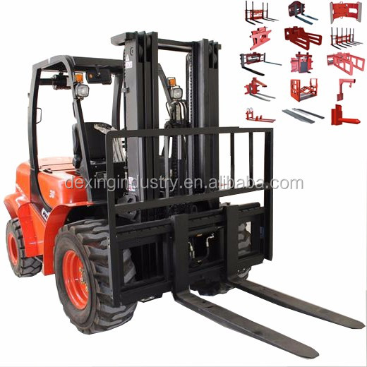 New 2500 kg Rough Terrain 4x4 Forklift for Sale with Optional Yammar Engine, 3 Stage Mast, Side Shift