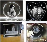 Portable 3D Portrait Fasten Speed Crystal Gifts Laser Engraving System