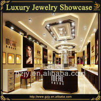 Modern indian jewellery showroom designs display cabinet and showcases for jewelry shop