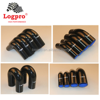 Silicone Hose reinforce Straight/Reducer Coupler/45&90Elbow/Vaccume Hose ID:8mm-127mm option