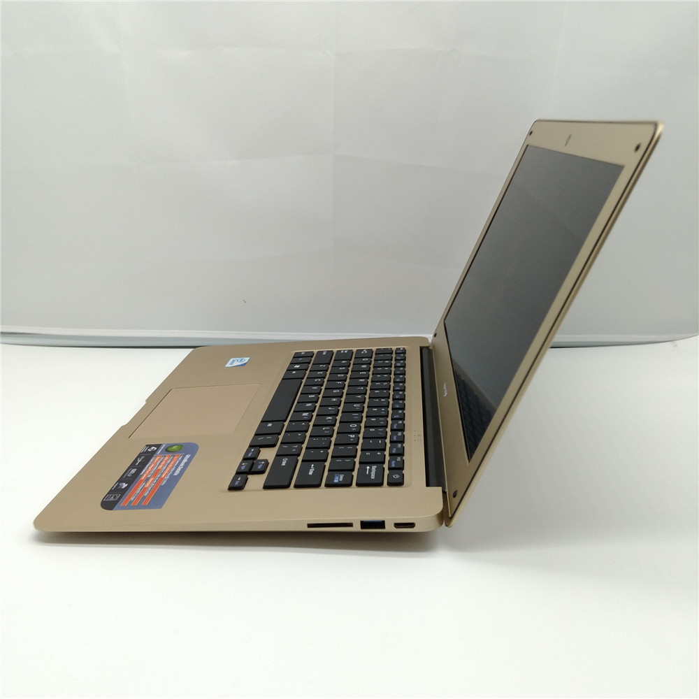 Free shipping 14 inch laptop 2.0 GHz 4G DDR3 750G HDD WIN7/8 notebook Intel J1900 Quad core ultrabook laptop computer