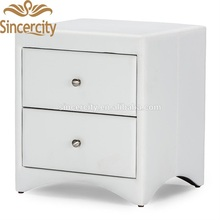 bedroom furniture wooden frame white nightstand baxton studio dorian 2 drawers faux leather nightstand black bedside table