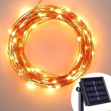 string solar fairy lights 10m 100l warm white LED Christmas lights outdoor factory wholesale cheap battery operated string light
