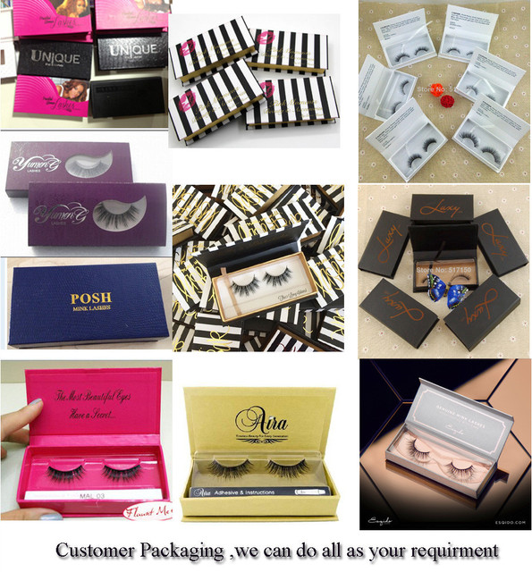 100% Real Mink Eyelash With Customized Packaging Box