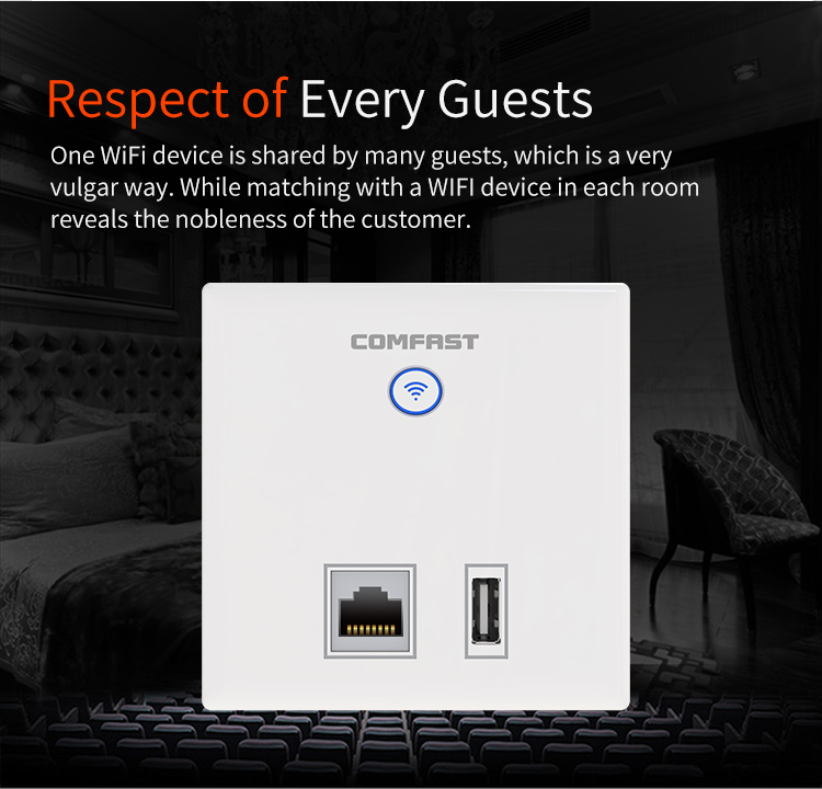 COMFAST CF-E536N Universal Aluminum Exterior Wall Panels 300Mbps Wireless AP/Wifi Repeater