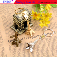 FACTOUR OUT-LET MINI eiffel tower keychain paris souvenir metal gift craft