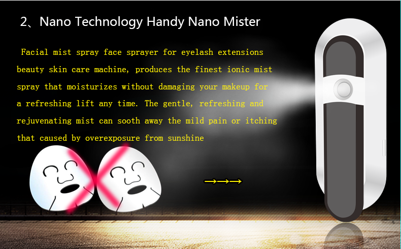 Customized private label facial nano mister moisturize facial steamer