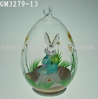egg-shaped easter decoration with LED light