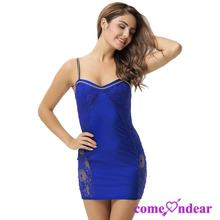 In stock Plus Size Blue Lace Cami Knee Length 2017 Bandage Bodycon Dress