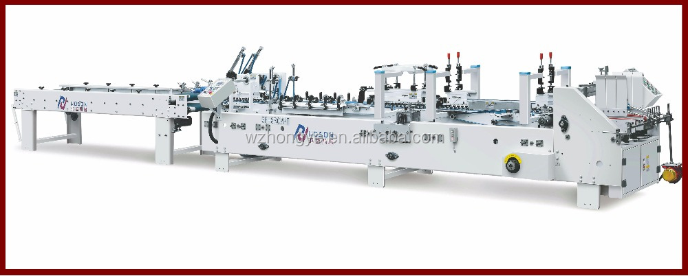 ZH-880FT Automatic Small cardboard box Folding and Gluing Machine