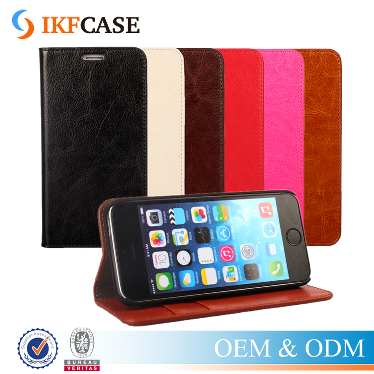 High quality wallet style cell phone cases for iphone 5s/ 7/7plus,pu magnetic flip slot phone cover