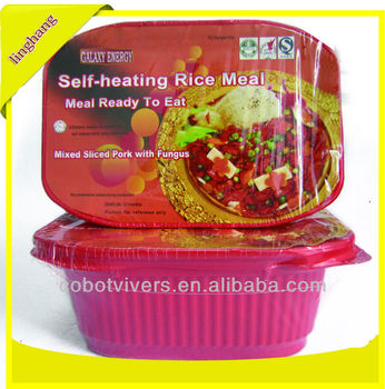 Self-heating rice meal /Meal ready to eat