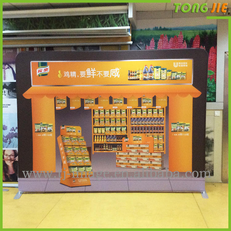 High quality collapsible trade show booth rack fabric pop up display