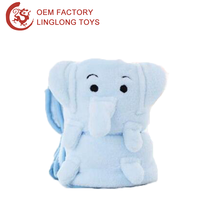 Polar Fleece Fabric Elephant Knee Legs Blanket Animal Shape Airplane Mini Throw Carpet Elephant Folding Travel Plush Blankets