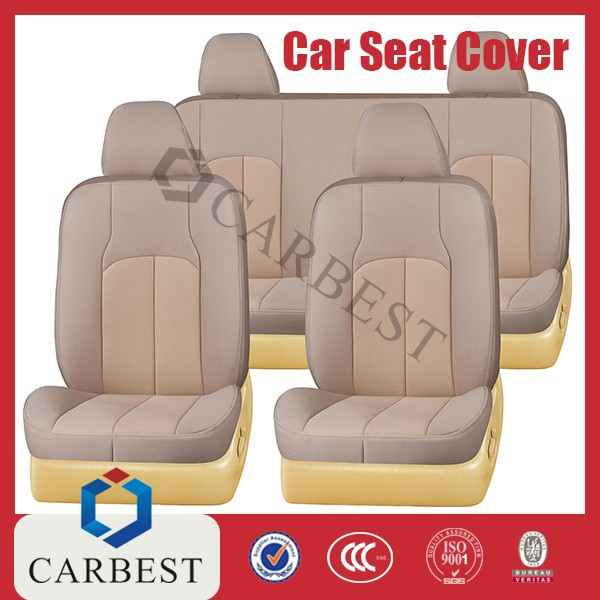 universal knitted fabric car seat cover full set
