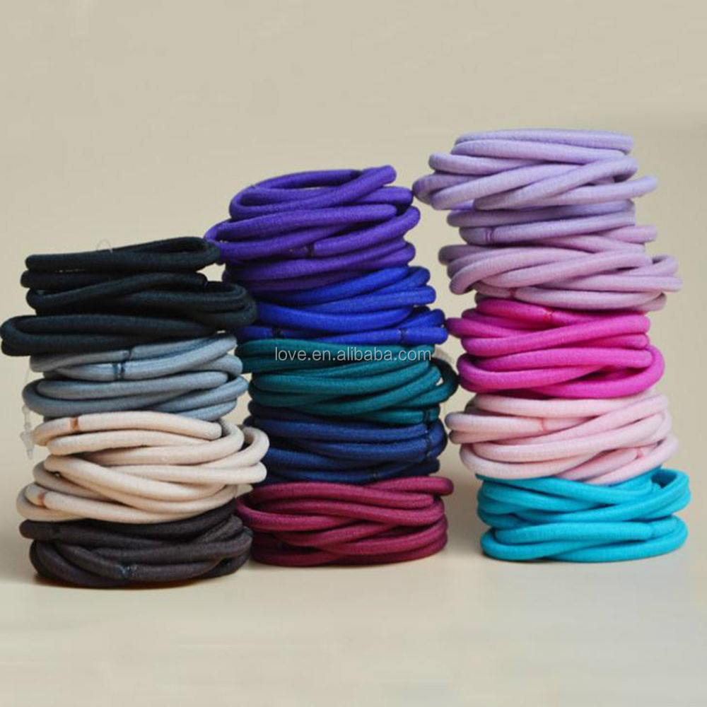 Hot Selling 4mm Colorful Elastic Hair band