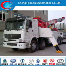 Good quality HOWO 8*4 heavy duty road wrecker truck for sale