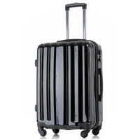 Classic vintage luggage with wheels from China maleta manufacture