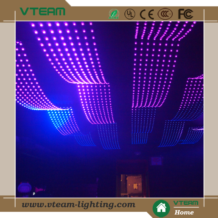 P110 Soft LED Media Facade Transparent LED Curtain LED Architecture Lighting