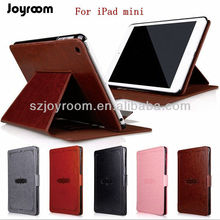 Retro style leather case for ipad mini with card slots- Black/Red/Grey/Brown/Pink (Paypal accept)